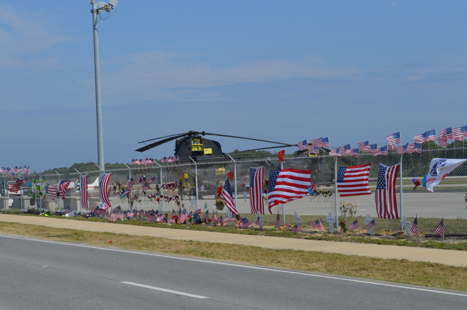 Memorial for the seven Marines from the Special Operations Regiment and four U.S. Soldiers of the 1-224th Assault Helicopter Battalion who perished March 10, 2015 when their UH-60 Blackhawk helicopter crashed on a training flight.